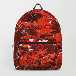 Japanese Red Maple Leaves Backpack
