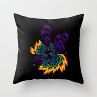 firefly Throw Pillows featuring Firefly by Steve Purnell