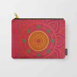 """Fuchsia and Gold Mandala"" Carry-All Pouch"