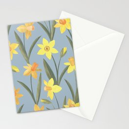 Spring Daffodils Floral Pattern Stationery Cards