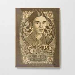 Old Bitch Label (Frida Kahlo) Metal Print