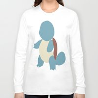 squirtle Long Sleeve T-shirts featuring Squirtle by Kaylabeaisaflea