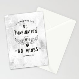 The Man Who Has No Imagination Has No Wings Stationery Cards