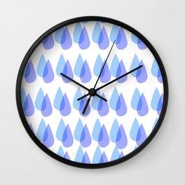 Raindrop Pattern Wall Clock