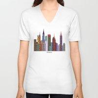 atlanta V-neck T-shirts featuring Atlanta city  by bri.buckley