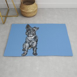Rupert the Miniature Schnauzer Rug