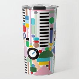 Memphis Milano Postmodern City Towers Travel Mug