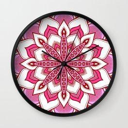Mandala Flower : Pink Wall Clock