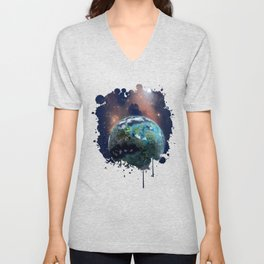 Beyond Infinity | Vacation Planet Unisex V-Neck