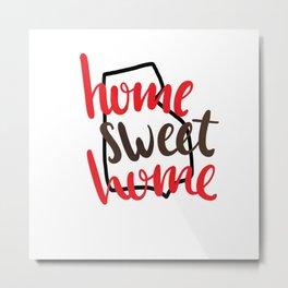 Home Sweet Home-Brown University Metal Print