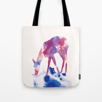 fawn Tote Bags featuring Fawn by Andreas Lie