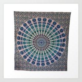 Queen Hippie Mandala Tapestries Wall Hanging Art Print