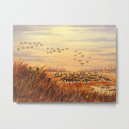 Goose Hunting Companions Metal Print