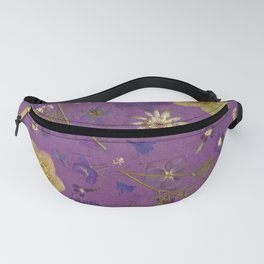 Purple dark floral Fanny Pack