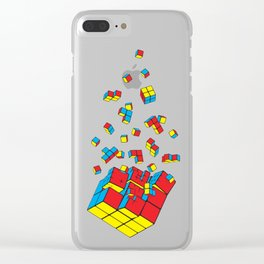 Rubixplosion Clear iPhone Case