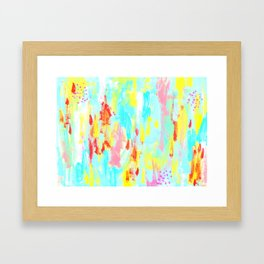 Abstract Painting Modern Contemporary Art - See You in Spring Framed Art Print
