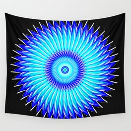 Blueberry Pinwheels and Morning Glory Wall Tapestry