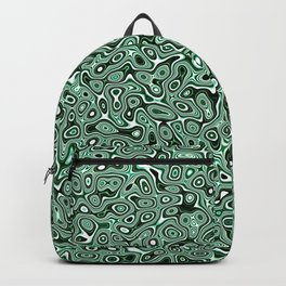 Abstract fractal green marbleized psychedelic plasma Backpack