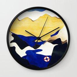 Galaxy/Earth collage Wall Clock