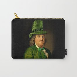 St Patrick's Day for Lucky Ben Franklin Carry-All Pouch