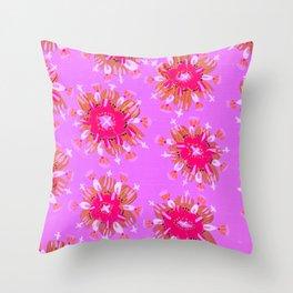 Lilac Christie Rose Throw Pillow