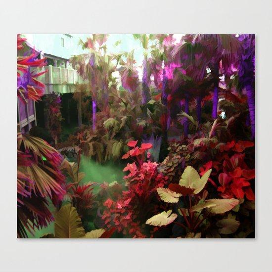 Rainbow Tropical Garden Canvas Print