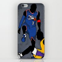 lakers iPhone & iPod Skins featuring The Step Over by nissa