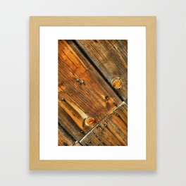 Wood Grain Pattern on Weathered Wooden Boards Framed Art Print