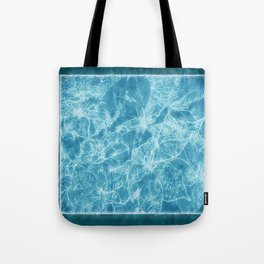 Mixed color Poinsettias 3 Outlined Blue Tote Bag