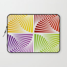 Colorful Squares twirling from the Center. Optical Illusion of PerspectiveColorful Squares twirling Laptop Sleeve