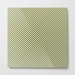 Woodbine and White Polka Dots Metal Print