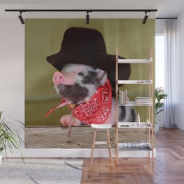 Puppy Cowboy Baby Piglet Farm Animals Babies Wall Mural