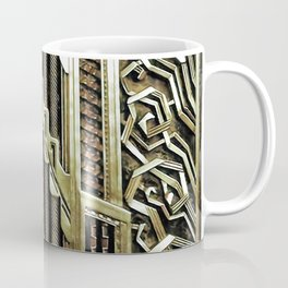 Metallic art nouveau design, vintage,elegant,chic,art nouveau, belle epoque,beautiful,gold,metallic, Coffee Mug