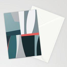 Organic Geometric 01 Blue Stationery Cards