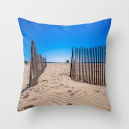 Sweat beach Throw Pillow