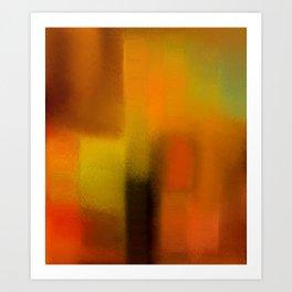 Colorfield (Orange/Red/Green) Art Print