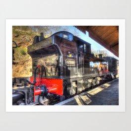 Steam Train No.4566 at Bewdley Art Print