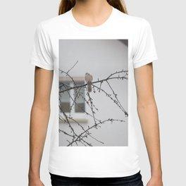 bird in the rain T-shirt