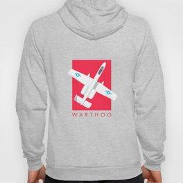 A-10 Warthog Jet Aircraft - Crimson Hoody