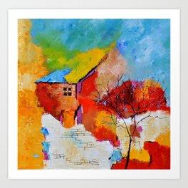 House and tree Art Print