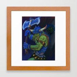 battle orc Framed Art Print