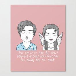 R + J Canvas Print