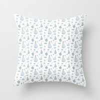 ships Throw Pillows featuring ships by Dlinnaya