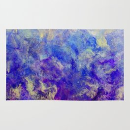 Lilac Sunset - Original Abstract Art by Vinn Wong Rug
