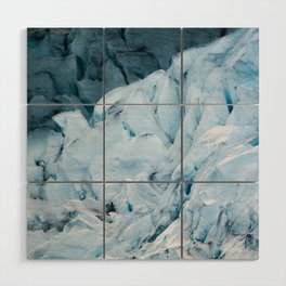 Blue Glacier in Norway - Landscape Photography Wood Wall Art