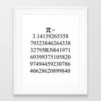 pi Framed Art Prints featuring Pi by Anton Nikulin
