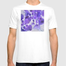 Purple Water Plant White Mens Fitted Tee MEDIUM