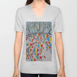 withered tree / potatoes Unisex V-Neck