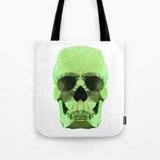 Polygon Heroes - Emerald Skull Tote Bag