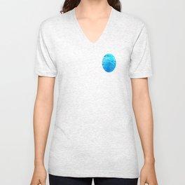 Hoar Frost in Turquoise Unisex V-Neck
